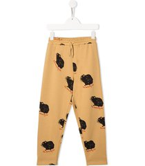 mini rodini guinea pig printed trousers - neutrals