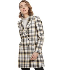abrigo io fantasía multicolor - calce regular