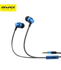 audífonos bluetooth manos libres inalámbricos, auriculares estéreo awei 910i auriculares con micrófono cancelación de ruido (azul)
