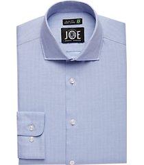 joe joseph abboud repreve® blue herringbone slim fit dress shirt
