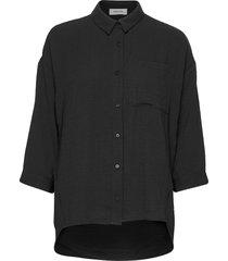 alexis shirt overhemd met lange mouwen zwart modström