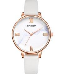 la fascia di cuoio d'annata dell'orologio delle retro donne guarda gli orologi del quarzo del quadrante stereo 3d