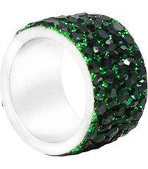 anillo de mujer verde  5 línee lumiere colection vestopazzo