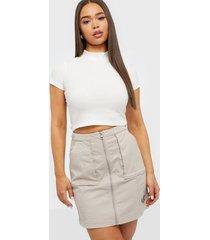 calvin klein jeans cotton twill utility skirt minikjolar