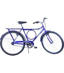bicicleta dalannio bike aro 26 masculina barra circular vb potenza azul