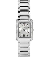 westminster - orologio da polso solo tempo con cassa e cinturino in acciaio e quadrante silver con strass per donna