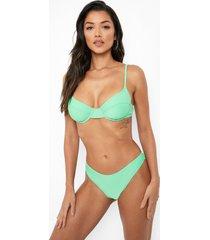 gerecycled hipster bikini broekje, green