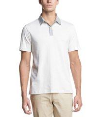 dkny men's contrast-collar supima cotton polo shirt