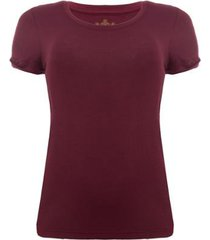 camiseta aleatory viscolycra vinho feminina