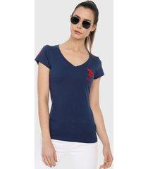 camiseta azul navy-rojo us polo assn