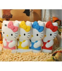 3d hello kitty cover cute case cartoon silicone for iphone 4 4s 5 5s 6 6 plus