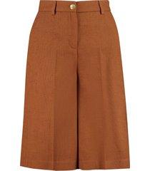 pinko ordinato cotton blend bermuda shorts