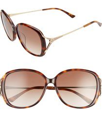 women's gucci 58mm round sunglasses -