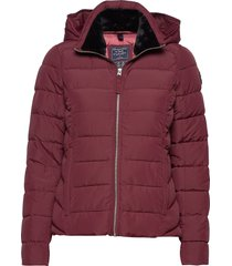 packable puffer coat fodrad jacka röd abercrombie & fitch
