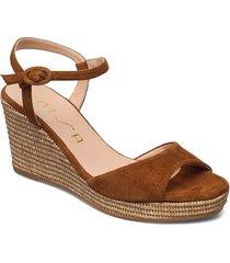 lagata_ks sandalette med klack espadrilles brun unisa