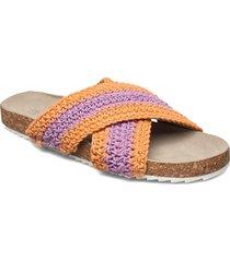 yvonne crochet sandal shoes summer shoes flat sandals lila becksöndergaard