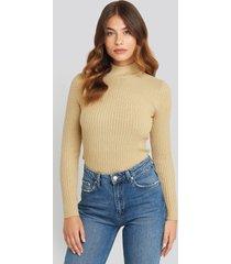 sisters point leni turtleneck sweater - beige
