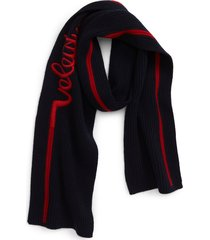 men's valentino bandeaux embroidered wool & cashmere scarf