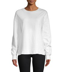 basic cotton-blend sweatshirt