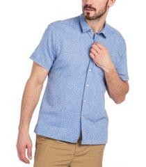 barbour men's solid textured shirt