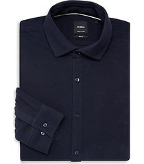 solid slim-fit dress shirt