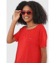 blusa colcci logo vermelha