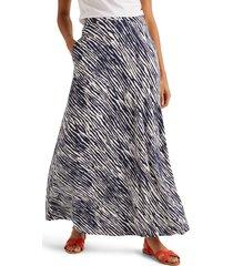 women's boden jersey maxi skirt, size 14 - blue