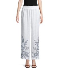 johnny was women's maike palazzo pants - white - size s