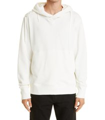 craig green laced cotton hoodie, size x-large in white/white at nordstrom