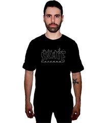 camiseta manga curta skate eterno flame cs preta - kanui