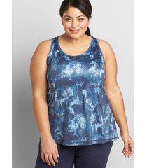 lane bryant women's livi drape-back tank with wicking 34/36 active texture