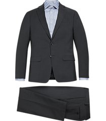 michael kors slim fit suit charcoal gray