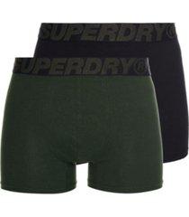 superdry men's organic cotton boxer double pack