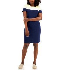 karen scott anna grace striped dress, created for macy's