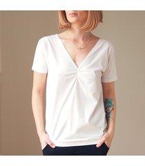 biała dwustronna bluzka s-xl