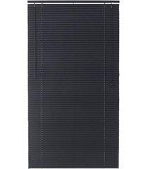 persiana horizontal pvc block 220x100cm preto
