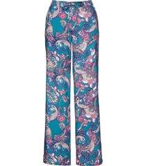 pantaloni in viscosa fantasia (petrolio) - bpc selection