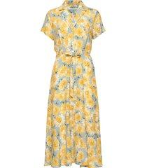 alica dress knälång klänning gul andiata