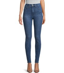 joe's jeans women's super high-rise skinny ankle jeans - caspian - size 28 (4-6)