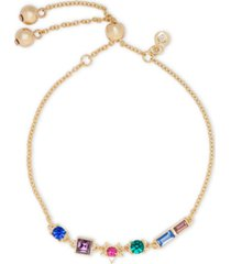 rachel rachel roy gold-tone multicolor crystal star slider bracelet