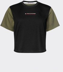polera boxy t-shirt short sleeve verde tommy sport