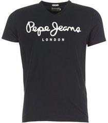 t-shirt korte mouw pepe jeans original stretch v