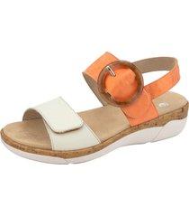 sandaletter remonte orange::crèmevit