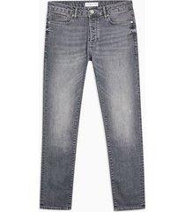 mens grey stretch slim jeans