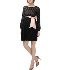 women's kimi and kai macy maternity babydoll dress, size x-small - black
