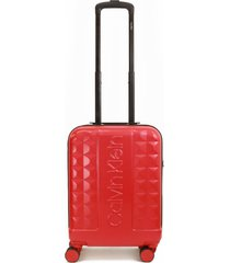maleta central park west rojo 20 calvin klein