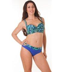 bikini azul mare moda luciana talles grandes