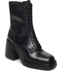 brooke shoes boots ankle boots ankle boot - heel svart vagabond