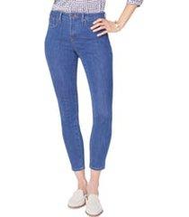 women's nydj ami skinny jeans, size 18 - blue