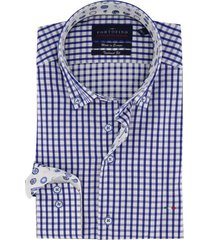 mouwlengte 7 overhemd portofino blauw wit geruit